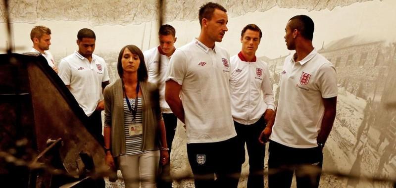 Zwiedzanie Krakowa - Reprezentacja Anglii w Piłce Nożnej