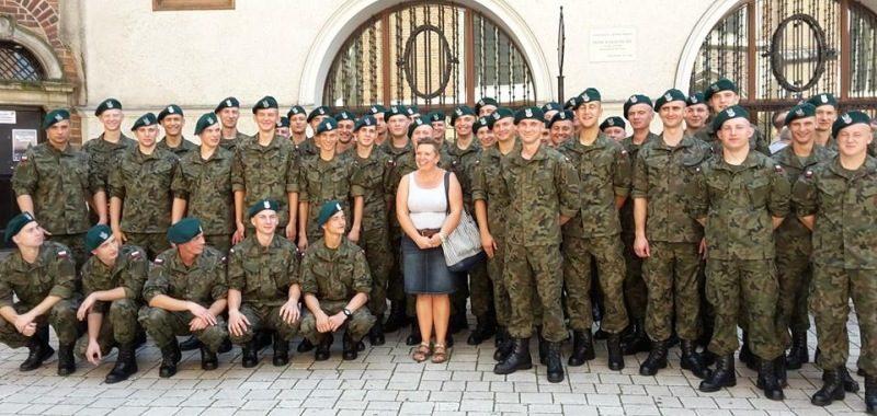 Wycieczka z żolnierzami po Krakowie