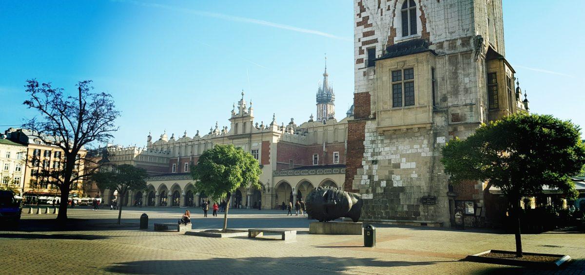 Jesień na krakowskim Rynku