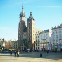 Jesień na Rynku w Krakowie