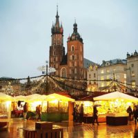 Rynek w Krakowie - świeta