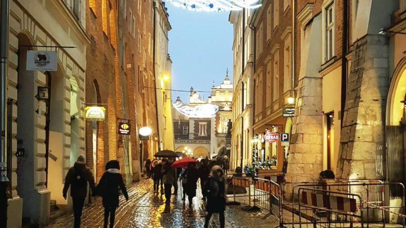 Ulica sienna Kraków Boże Narodzenie