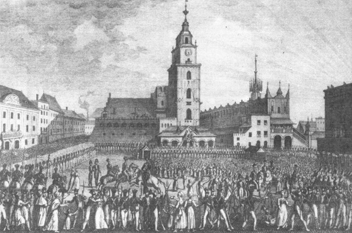 Odwach_i_ratusz_krakowski_w_1809